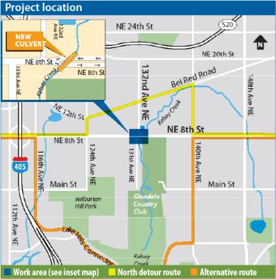 Kelsey Creek Culvert Project Map